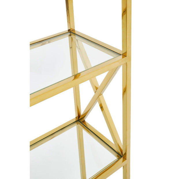 Horizon Glass & Gold Bookshelf