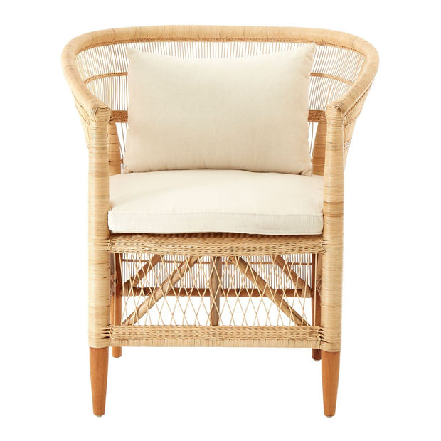 Natural Rattan Armchair - Set of 2
