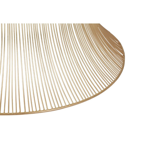Gold Finish Wire Coffee Table
