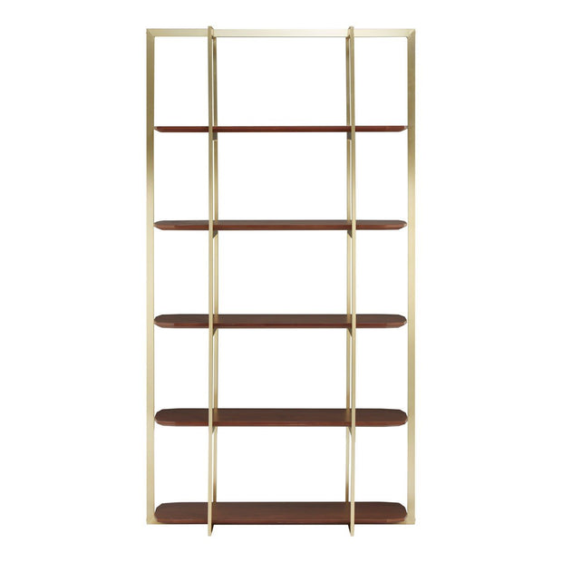 Villa Walnut Wood Shelf Unit