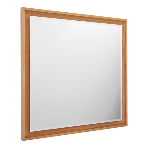 Natural Wood Framed Wall Mirror - Square