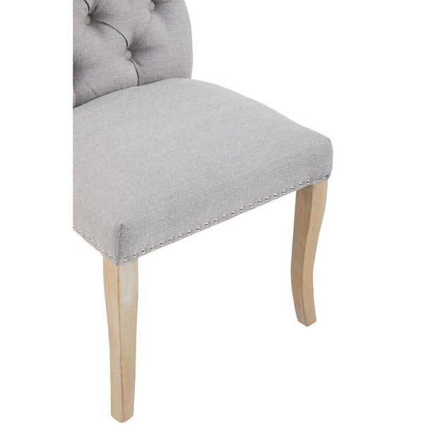 Townhouse Dining Chair - Grey  Linen - Set of 2