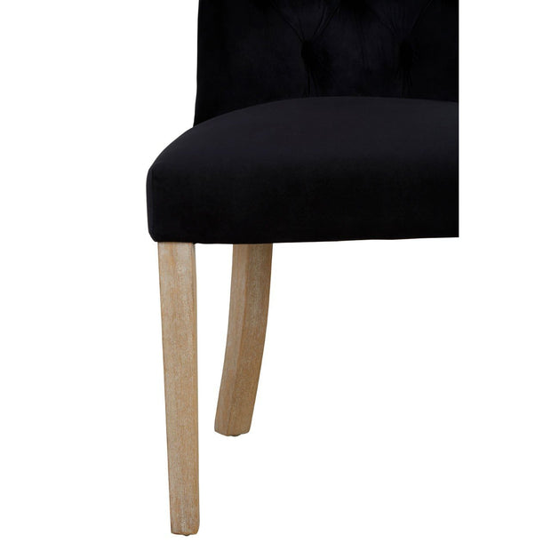 Fifty-Five South Buttoned Dining Chair - Black - Set of 2