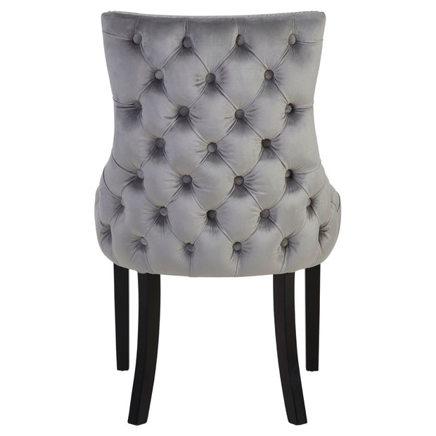 Button Back Dining Chair - Grey - Set of 2