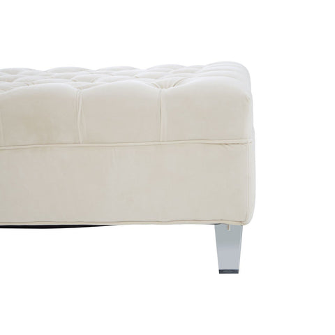 Square Suri Footstool with Acrylic Legs