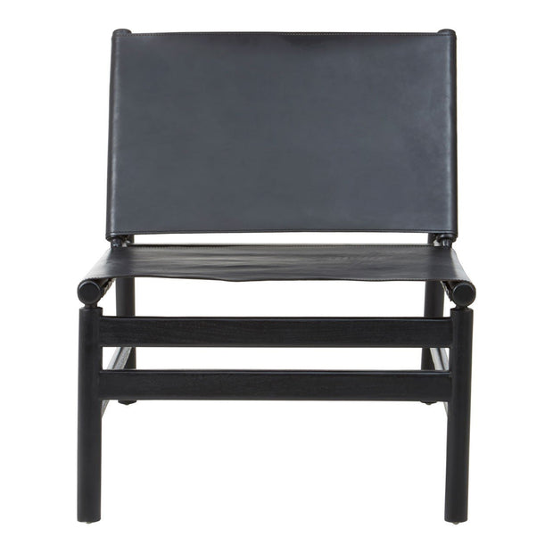Kendari Leaned Back Chair - Black