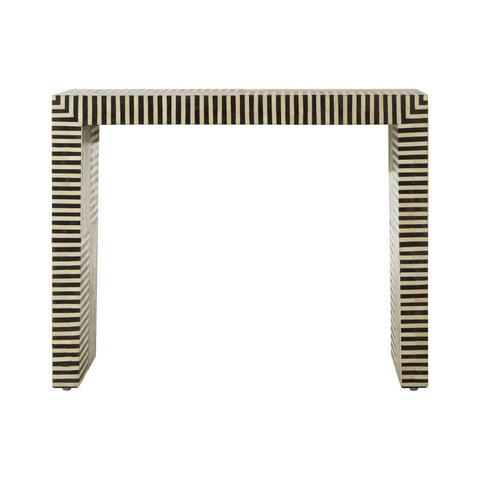 Bone Inlay Stripes Console Table