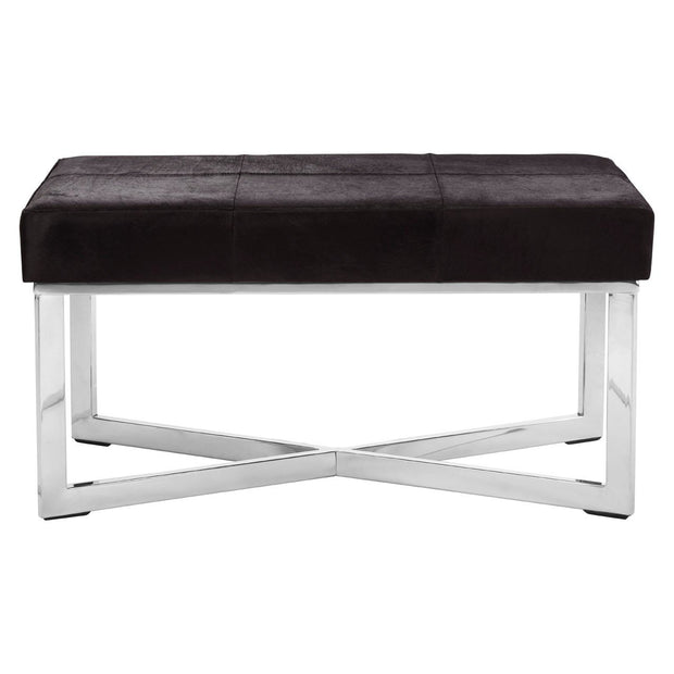 Kensington Townhouse Leather Bench - Black