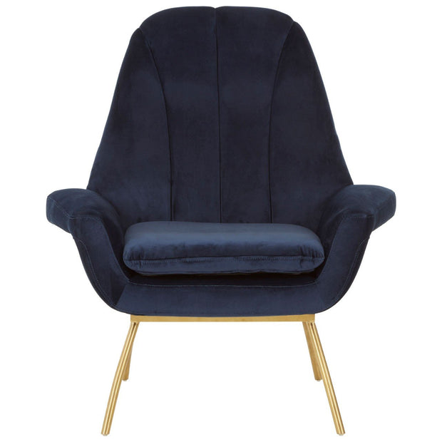 Billi Velvet Chair - Blue