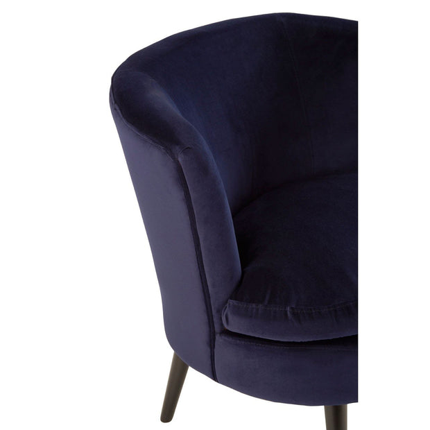 Midnight Round Armchair - Blue