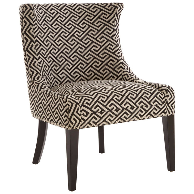 Regents Park Beige And Black Wingback Chair - Set of 2