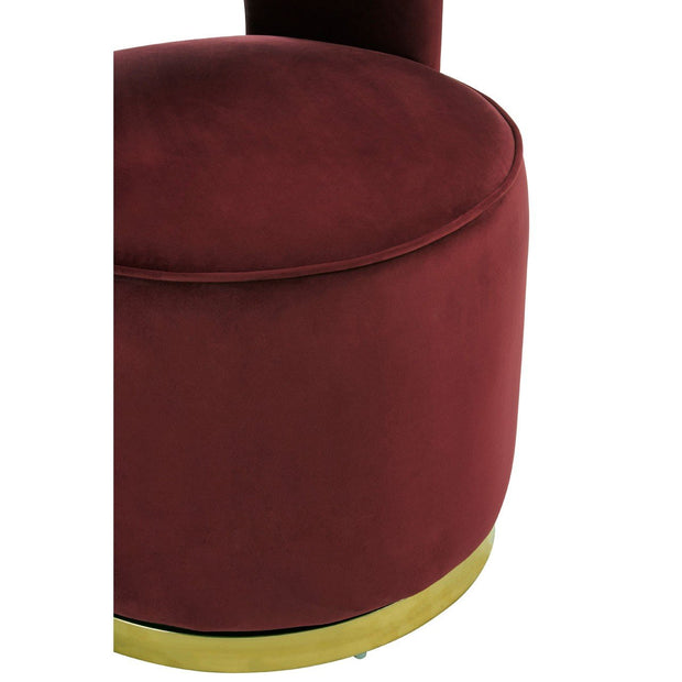 Bola Wine Velvet Chair