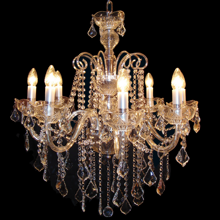 Classic Crystal Clear Chandelier - Allissias Attic  &  Vintage French Style - 1