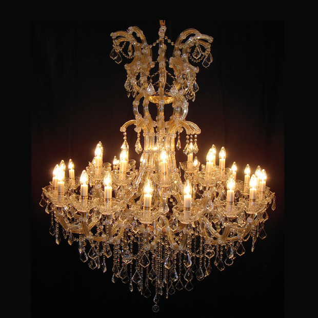 Large Glamorous Chandelier - Allissias Attic  &  Vintage French Style
