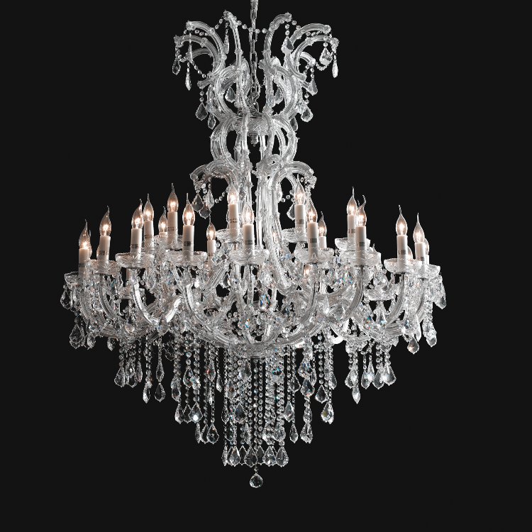 Large & Glamorous Chandelier - Allissias Attic  &  Vintage French Style