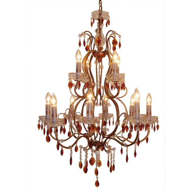 Amber Drop Chandelier - Allissias Attic  &  Vintage French Style - 1