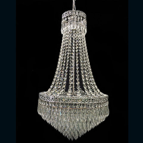 Two Tier Chandelier with Basket  Style - 480mm - Allissias Attic  &  Vintage French Style