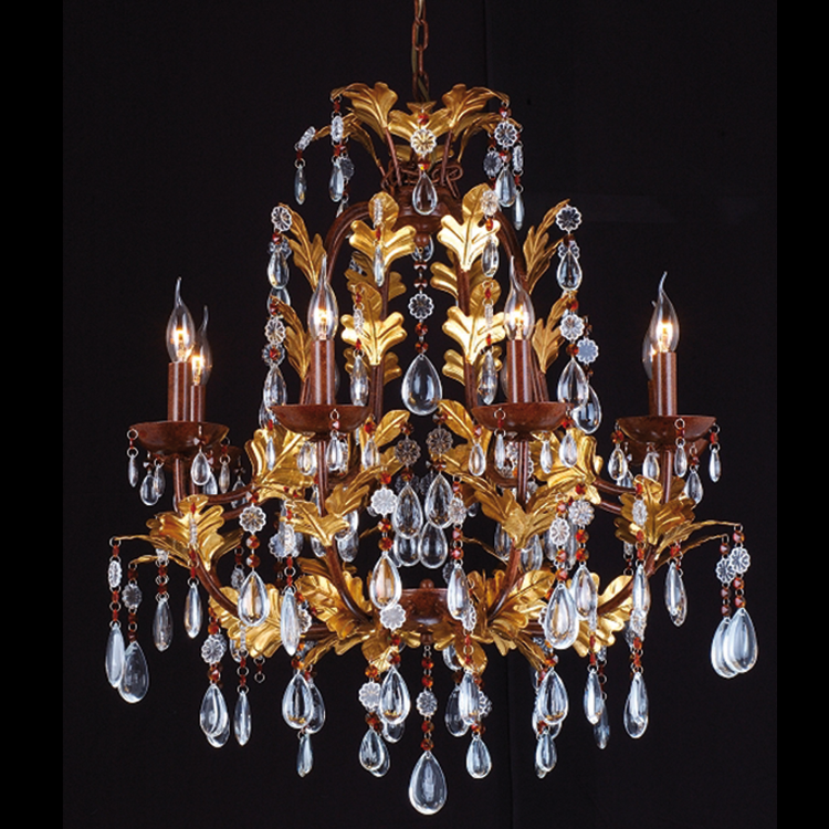 Golden Leaf Chandelier - Allissias Attic  &  Vintage French Style - 1