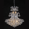 Elegant Large Crystal Ball Chandelier - Silver or Gold - Allissias Attic  &  Vintage French Style - 1
