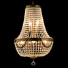 Vintage Basket Chandelier - Brass Finish - Allissias Attic  &  Vintage French Style - 1