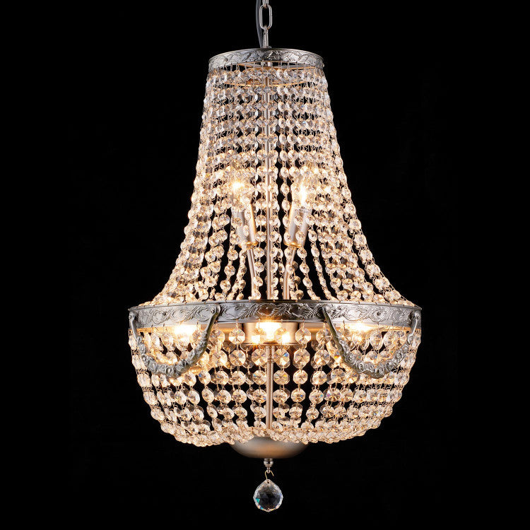 Vintage Basket Chandelier - Allissias Attic  &  Vintage French Style