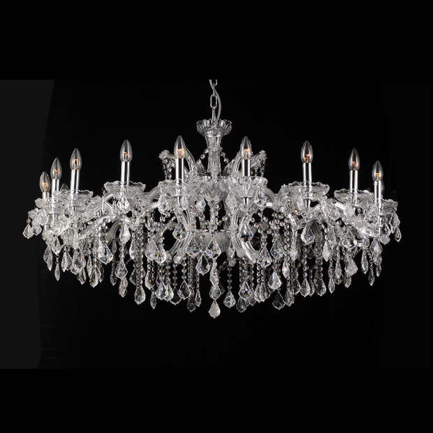 Enormous Crystal Drop Chandelier - Allissias Attic  &  Vintage French Style - 1