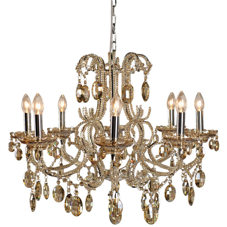 Beaded Chandelier - 8 Lights - Champagne - Allissias Attic  &  Vintage French Style