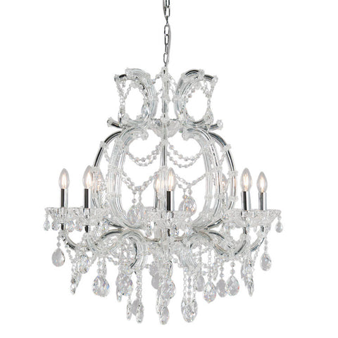 Elegant Chandelier with Curved Frame - Allissias Attic  &  Vintage French Style