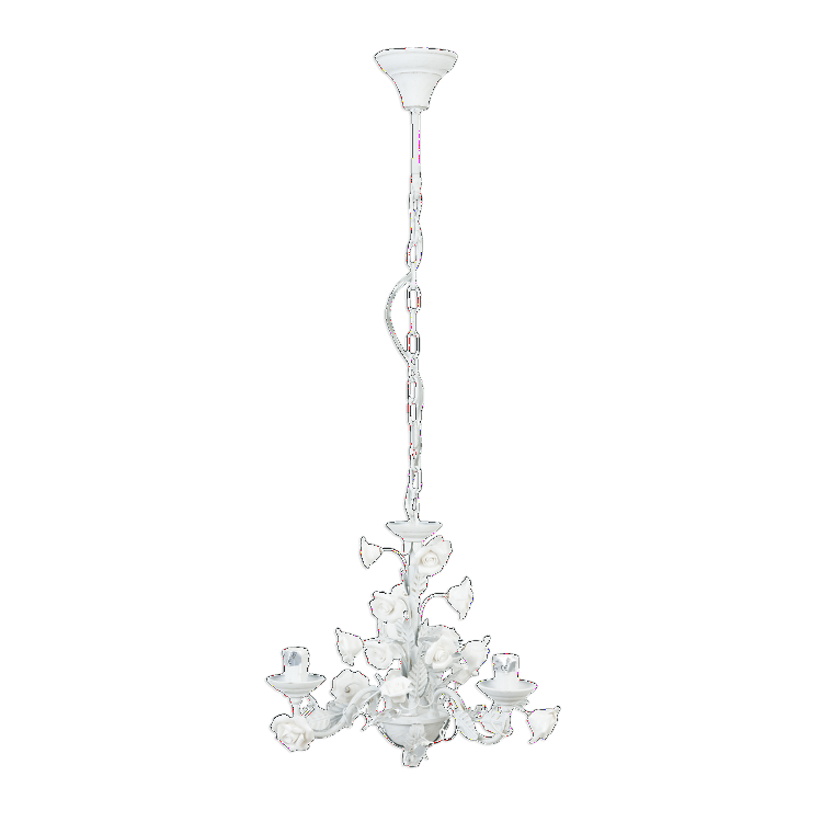 Rose Detailed Scrolled Hanging Chandelier - Small - Allissias Attic  &  Vintage French Style