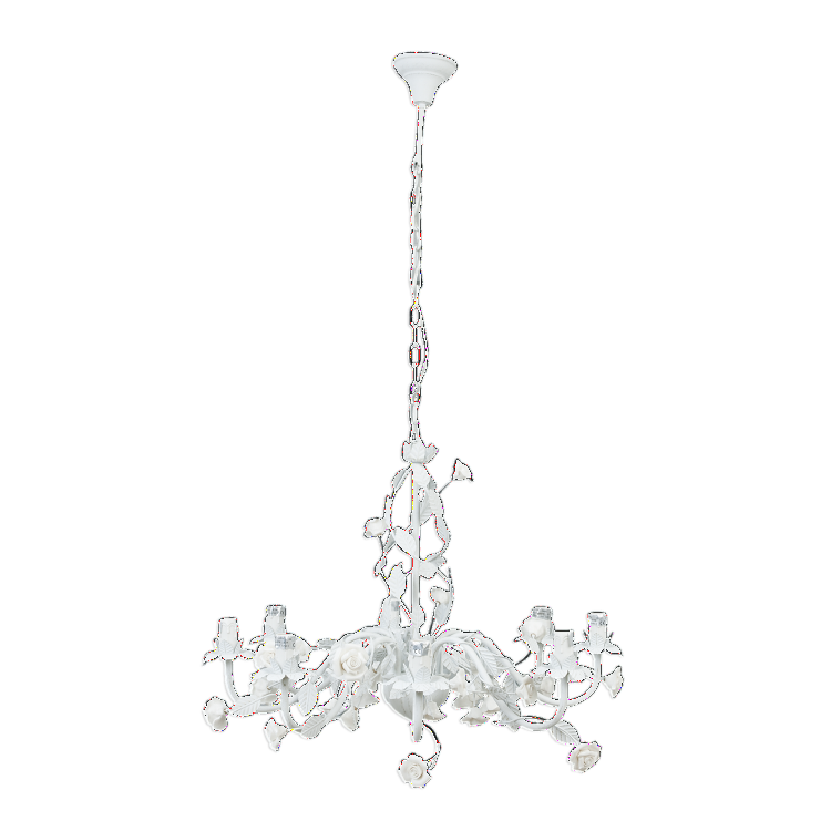 Rose Detailed Scrolled Hanging Chandelier - Large - Allissias Attic  &  Vintage French Style
