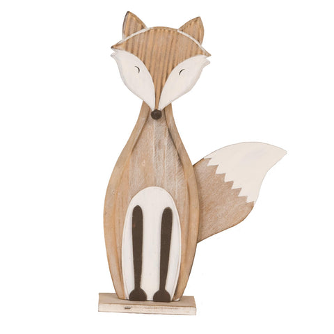 Timber Standing Fox Decor