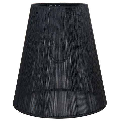 Threaded Chandelier Shade - Black - Allissias Attic  &  Vintage French Style