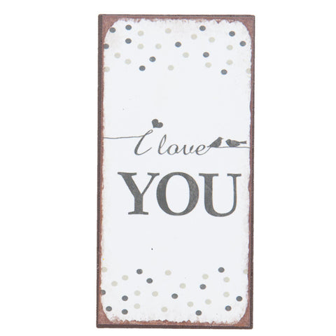 I Love You Magnet - Allissias Attic  &  Vintage French Style