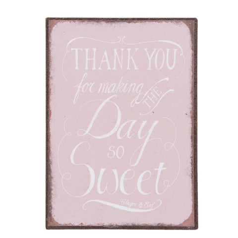 Thank you for Making the Day so Sweet Magnet - Allissias Attic  &  Vintage French Style