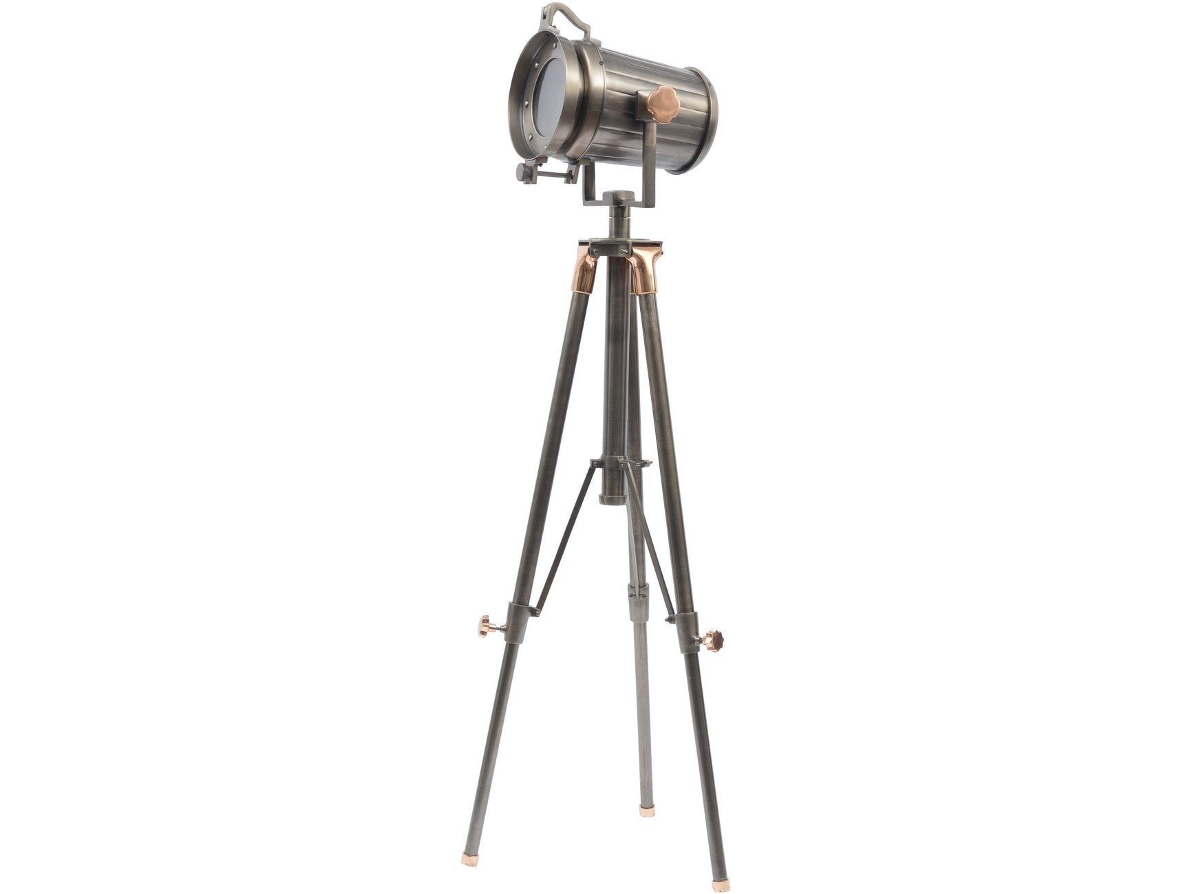 Charlie copper and satin grey tripod floor lamp allissias attic charlie copper and satin grey tripod floor lamp aloadofball Gallery
