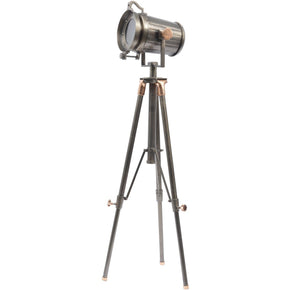 Charlie Copper And Satin Grey Tripod Floor Lamp