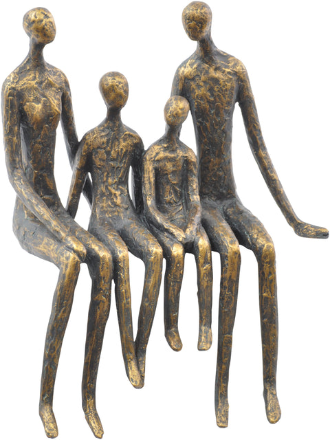 Sitting Family Of Four Shelf Sculpture