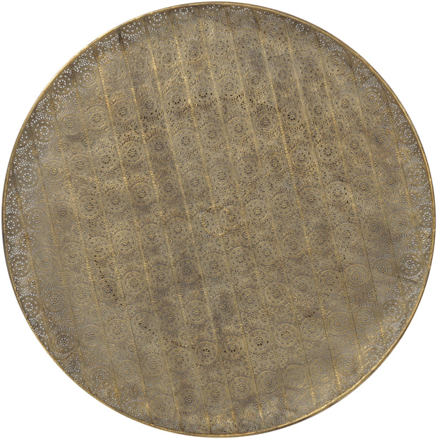 Antique Gold Filigree Wall Disc