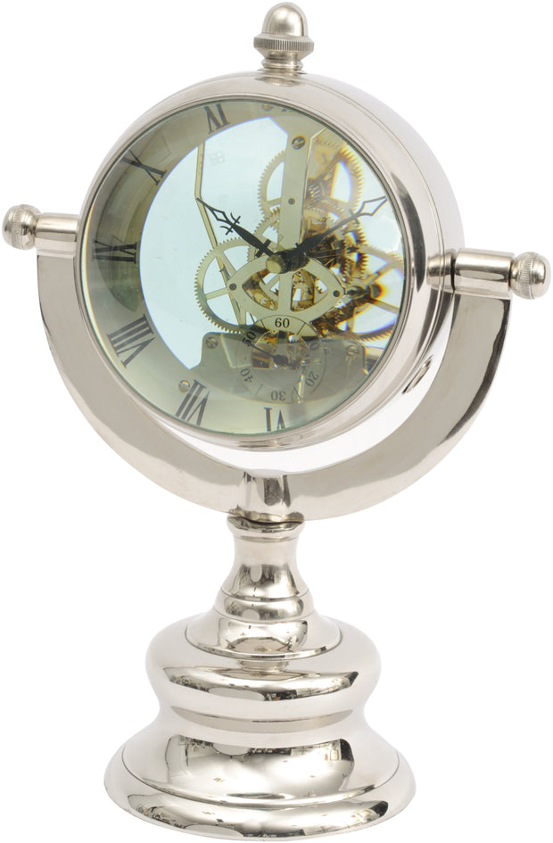 Oversized Nickel Table Clock