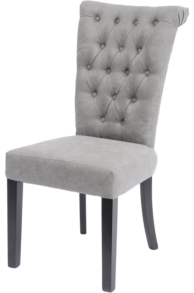 Light Grey Buttonback Dining Chair - Set of 2