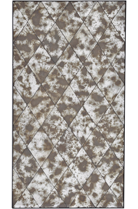 Santiago Antique Patchwork Rectangular Mirror