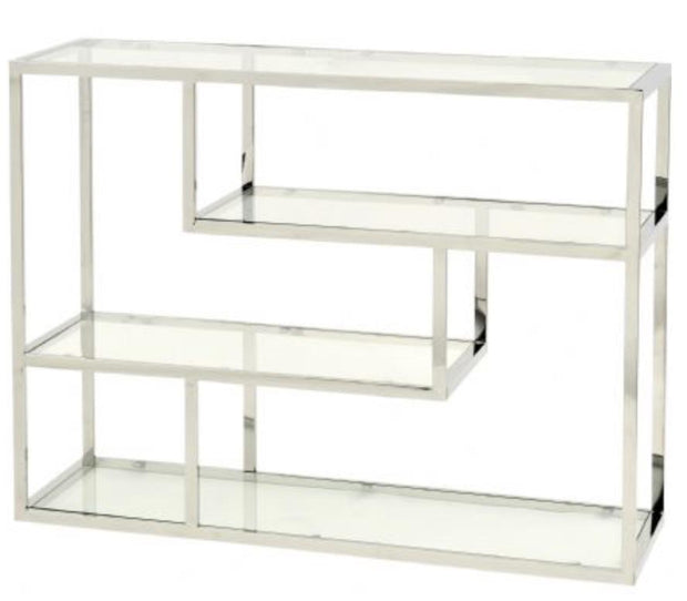 Linton Stainless Steel & Glass  Modular Shelving - Small