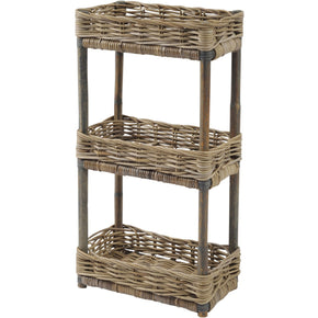 Toba Rattan Three Shelf Storage Unit