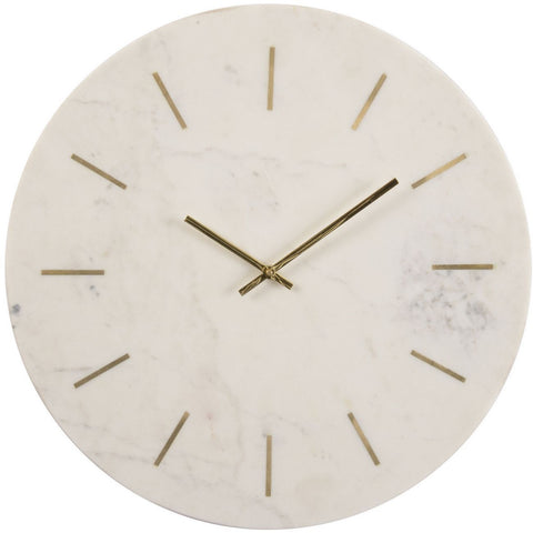 Brass Inlay And Marble Wall Clock