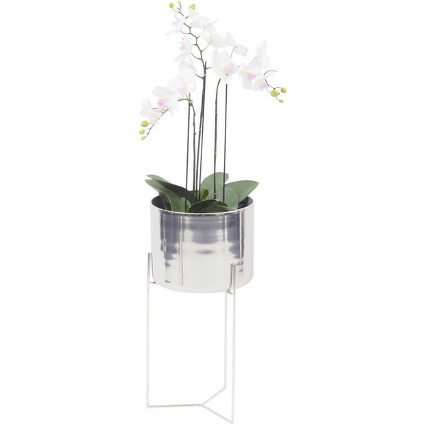 Easton Silver Planter on Stand