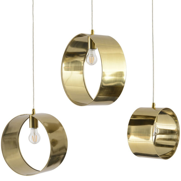 Ara Gold Pendants - Set of 3