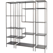 Fitzroy Bronze Narrow Modular Shelving Unit - Right