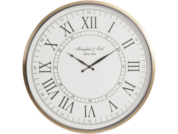 Lexington Brass Wall Clock