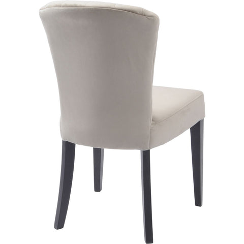 Henley Velvet Shell Upholstered Dining Chair in Taupe - Set of 2