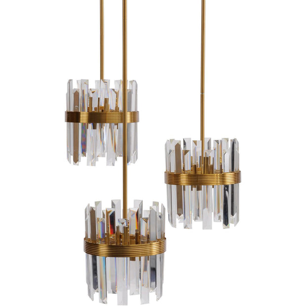 Crystal Pendant Light in Set of 3